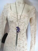 2b Bebe Bead And Chain Long Necklace, Gorgeous.