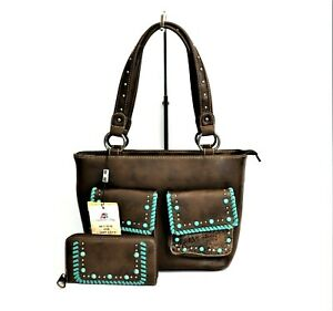 Montana-West-Concealed-Carry-Purse-Matching-Wallet-Set-Western-Country-Handbag