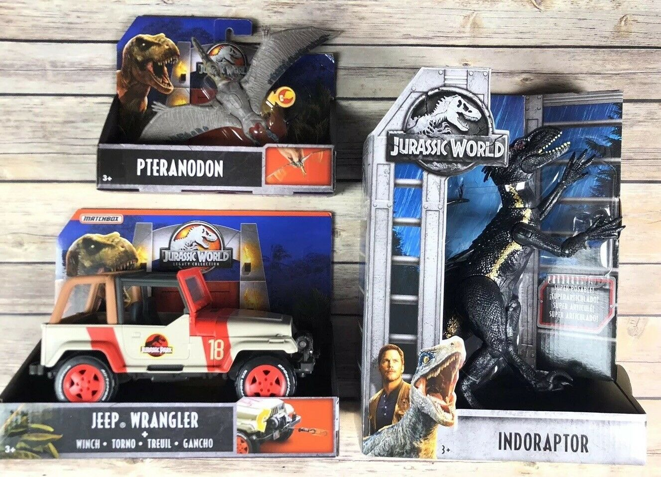 world dinosaurier menge 3 vermächtnis jeep wrangler indoraptor pteranodon