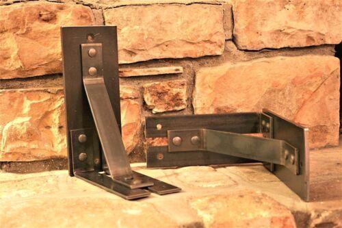 "One 8/""x10/"" Metal Mantel Corbel 4/"" WIDE Handmade Metal Bracket"