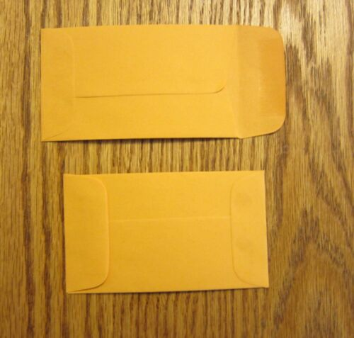 """175 NEW KRAFT CHANGE COIN ENVELOPES WITH GUMMED FLAP  #3  SIZE 2.5/"""" BY 4.25/"""""""