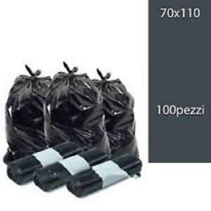 100-Sacchi-Differenziata-Buste-Immondizia-70x110-cm-NERE-Spazzatura
