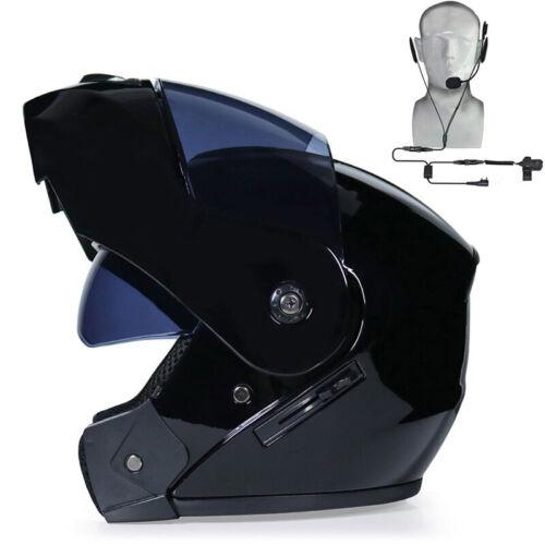 Bluetooth Motorcycle Helmet Full Face Dual Visor Modular Flip Up Scooter Helmet