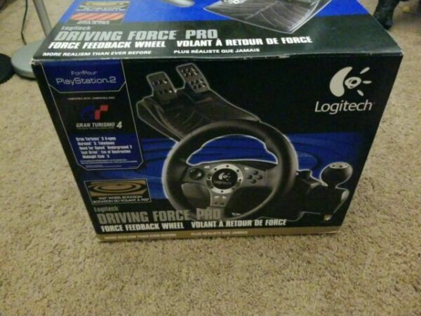 Logitech Driving Force Pro Playstation 2 Ps2 Works Steering Wheel Pedals Euj11 For Sale Online Ebay