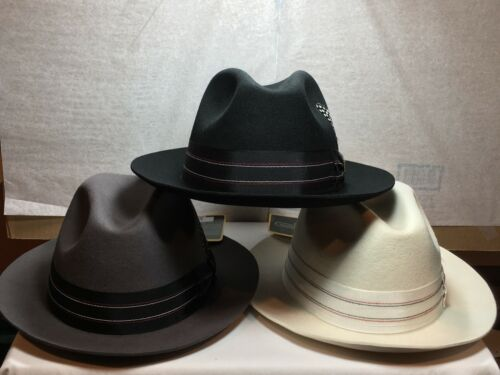 New with Tag Stacy Adams SAW624 Fedora Grassgrain Gangster Style Men/'s Hat