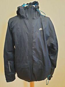 H378-Herren-Nike-Blau-Lightweight-Hooded-Full-Zip-Windbreaker-Jacke-UK-L-EU-52