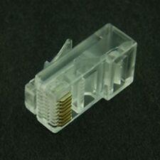 8/8 RJ45 Plug Connector Flat Profile (4 Pack)