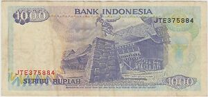 Image Is Loading Rr24 1992 Indonesia 1000 Seribu Rupiah Bank Note
