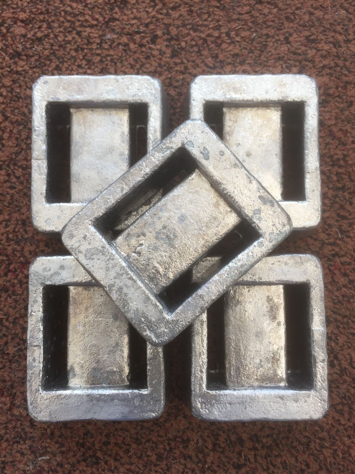 5 x 1kg Solid Lead Scuba Diving Weights = 5kg Total (Free Postage)