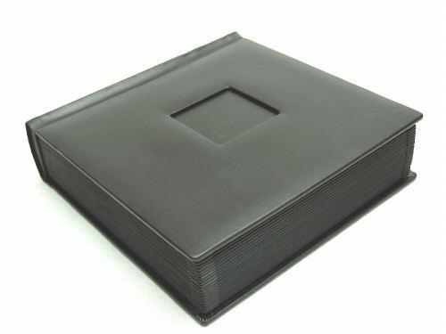 Profesional 10x10 Negro Boda álbum de fotos con 50 Mats (grabado disponible)