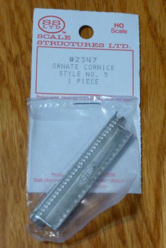 SS Ltd 1 Pcs. 5 HO #2347 Ornate Cornice Style No