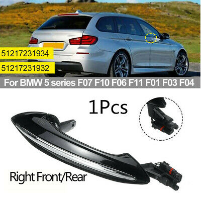 Front Outside Comfort Access Door Handle Left For BMW F07 F10 F06 F11 F01 Black