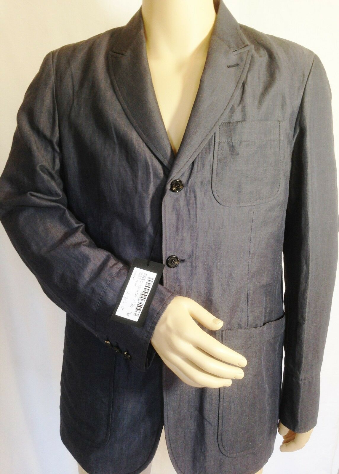 SCERVINO Street grau Slim Fit Sport Coat Light Blazer Größe 50/ M/L Made In