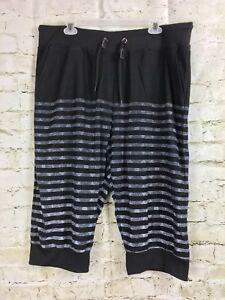 e03e41faaf600 Galaxy By Harvic Mens Shorts 2XL Black Grey Stripe Gym Sweat Board ...