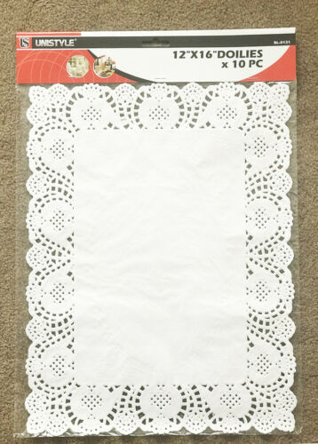 """10 Pieces Doilies 12/"""" X 16/"""" Tableware Doilies for dining or coffee table"""