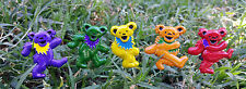 3D Dancing Bears 5 Pin Set -Officially Licensed Grateful Dead Lapel Hat Pins