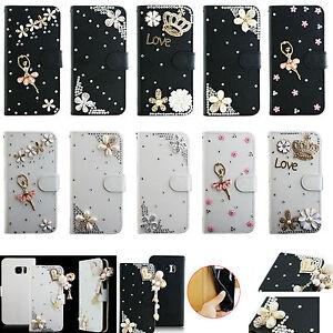 TY-For-Sony-XZ2-Samsung-LG-Crystal-Rhinestone-Diamond-Wallet-Leather-Case-Cover