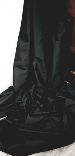 "5m tafetán de tela negra 58/"" de ancho de calidad superior de desgaste nupcial Tafetta Tela"