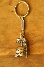 Ancient Greek Themed Keyring - Athenian Helmet Tall Crest Silver Zamac