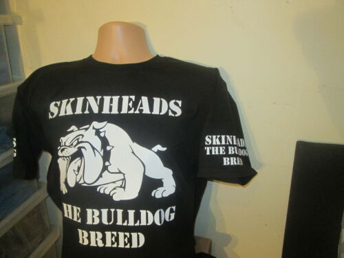 T SHIRT BLACK SKINHEAD s THE BULLDOG BREED