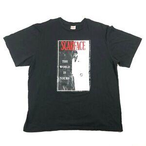 Clasico-Scarface-The-World-Es-Tuyo-Al-Pacino-T-Camisa-Hierro-en-Grafico-Negro-XL
