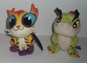 2-Outernauts-Plush-Stuffed-Soft-Toy-Pumaflar-amp-Patchoo-15-cm-Monsters-Figures