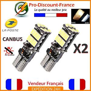 2-x-ampoule-LED-T10-W5W-4014-BLANC-XENON-CANBUS-ANTI-ERREUR-Veilleuse-VOITURE