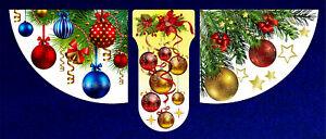 Set-3-Adesivi-di-Natale-034-Ghirlanda-PALLINE-DECORAZIONI-Riutilizzabile-Casa-Decorazione-da