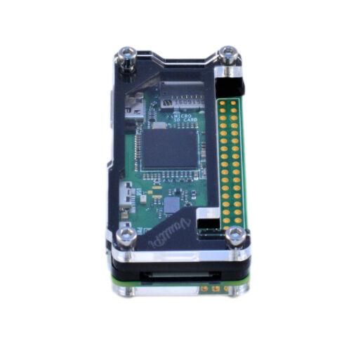 Raspberry Pi Zero W Case Black /& Clear Acrylic Deluxe Case