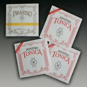 Pirastro-Oro-e-Tonica-a-D-e-G-4-4-Violino-Corde-Set-Violino-Strings-Set