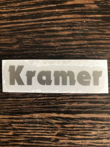 Kramer Guitar Vinyl Headstock Decal SILVER