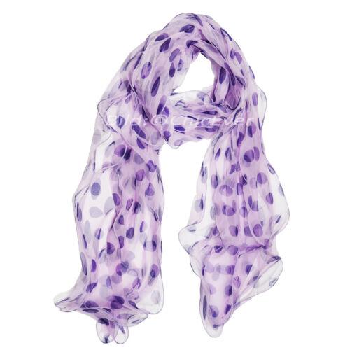 Seidenschal,Schal a.100/% Seide,25x180cm,punkt,3 lagig,lila,violett,creme,braun