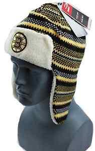 Hockey-NHL Boston Bruins Reebok Striped NHL Trooper Style Knit Hockey  Hat/Beanie/Toque Sports Mem, Cards & Fan Shop