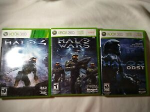 Xbox 360 Lot Of 3 Halo Wars / Halo 4/ Halo Odst