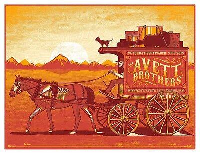 AVETT BROTHERS MINN STATE FAIR  SILKSCREEN GIG POSTER S/N ED 2015