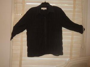 bære ~ sort M Semi S sheer til kunst Caroline Jacket ~ ~ at L Shirt Textured Quirky Rose 5Aw0aRqX