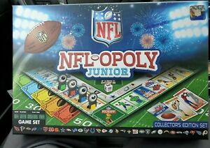 Collector/'s Edition NEW Factory Sealed NFL-Opoly Monopoly Junior Board Game