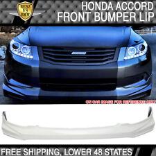 Fits 08 10 Honda Accord Mugen Front Bumper Lip Painted Nh578 Taffeta White Fits 2008 Honda Accord