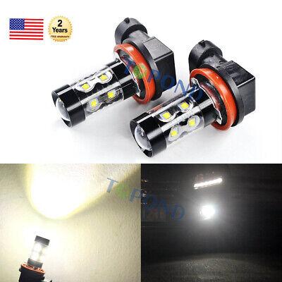 2x50W H11 High Power CREE LED 6000K  Car Fog Light Bulb DRL Daytime Running Lamp