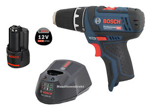 Bosch-Akku-Bohrschrauber-GSR-12V-15-Ladegeraet-GAL-1230-CV-3-0-Ah-Akku