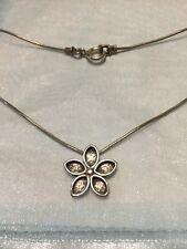 "Silpada Sterling Silver 925 Oxidized Daisy Flower Pendant Necklace - 15""long"
