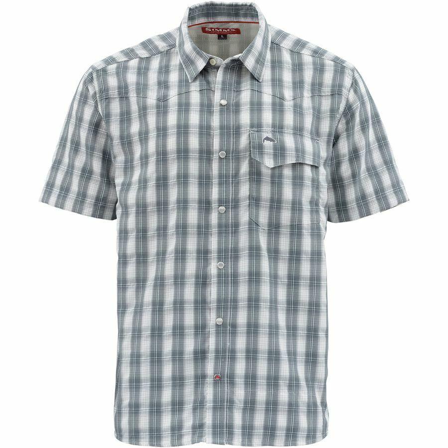 Simms  gree cielo Short Sleeve Shirt Storm Plaid  Diuominiione Medium  Closeout