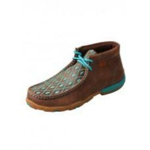 Twisted X WDM0072 Women's Driving Moccasins Moccasins Moccasins Chukka, Brown Turquoise e9271e