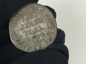 1/12 Silber Taler 1694 Sachsen-Albertinische Linie Johann Georg IV. 1691-1694 SS