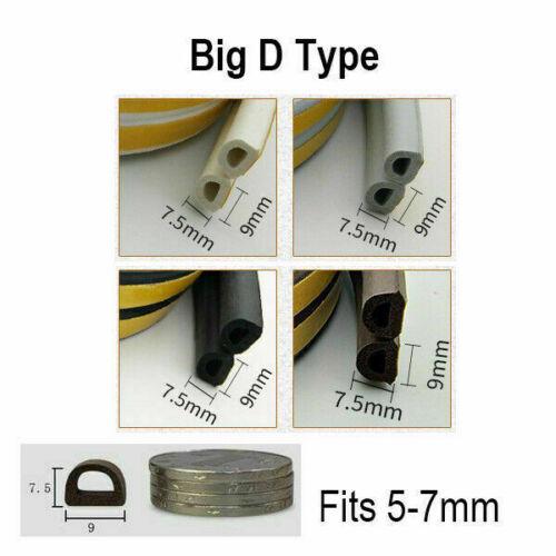D//E//P//I Shape Foam Window Door Seal Strip Self Adhesive Sponge Rubber Insulation