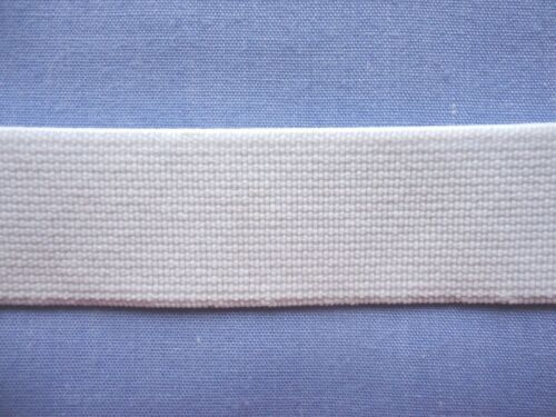 Firm x 2 metres 20mm White Non Roll Knit Elastic