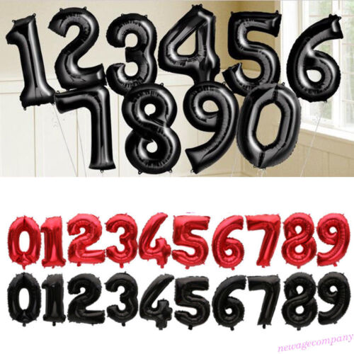 """32/"""" Number 0-9 Helium Foil Balloons Birthday Holiday Wedding Decor DIY Party"""