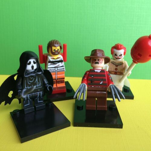 4PCS Horror Movie Ghostface Freddy Hannibal Lecter Pennywise Clown Mini Figure