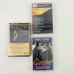 Lot-of-3-Cassette-Tapes-Gospel-Capella-Hymns-Christian-Music-B-J-Thomas