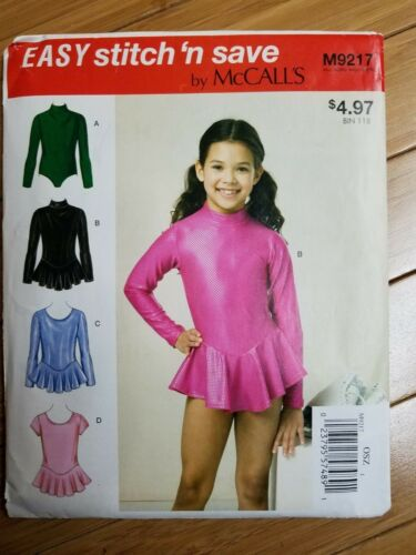 McCall/'s Sewing Pattern Girls Leotards M9217 OSZ NEW UNCUT